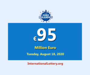 Euro Millions Lottery is the biggest jackpot in the world with €95 million Euro