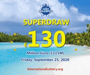 €130 million – EuroMillions Superdraws Lotteryis the largest jackpot in the world