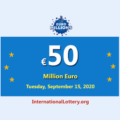 EuroMillions lottery result of September 11, 2020; Jackpot raises to 50 million Euro