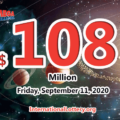 Who will win the next $108 million Mega Millions jackpot on September 11, 2020?