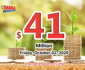 The results of Mega Million on September 29, 2020; Jackpot is $41 million