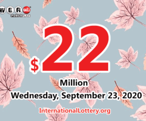 The results of Mega Million on September 22, 2020; Jackpot is $24 million