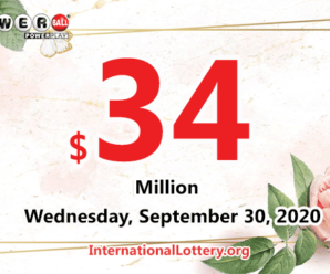 Powerball results of September 26, 2020: Jackpot raises to $34 million