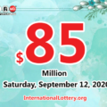 The result of Powerball lottery of America on September 09, 2020