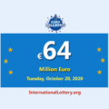 The results of Euro Millions Lottery on October 16, 2020; Jackpotis €64 million Euro