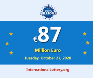 Three players won the second prizes; EuroMillions Lottery Jackpot is €87 million