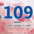 The results of Mega Million on October 23, 2020; Jackpot is $109 million