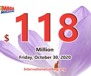 Results of October 27, 2020; Mega Millions jackpot raises to $118 million