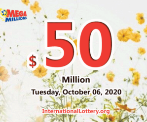 Mega Millions stands at $50 million; one player won $1 million