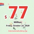 The results of Mega Million on October 13, 2020; Jackpot is $77 million
