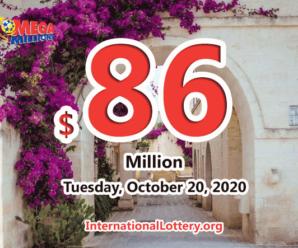 Two players won the first prizes; Mega Millions jackpot rises to $86 million
