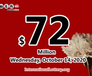 Powerball jackpot now is $72 million; A new winner of $1 million