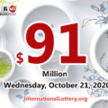 A winner received the second prize; Powerball jackpot spins to $91 million