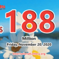 A player won the second prize with Mega Millions; Jackpot raises to $188 million