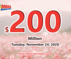 Mega Millions results of November 20, 2020, Jackpot is at $200 million
