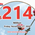 The results of Mega Millions on November 24, 2020; Jackpot is $214 million