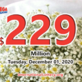 Mega Millions results for 2020/11/27; Jackpot stands at $229 million
