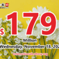 Powerball Jackpot raises to $179 million for the next drawing on November 18, 2020