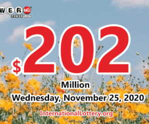 Who will win the next $202 million Powerball jackpot on November 25, 2020?