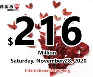 Results of November 25, 2020 – Now, $216 million Powerball jackpot is largest in the world