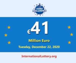 Four players won the second prizes of Euro Millions Lottery; Jackpot is €41 million Euro
