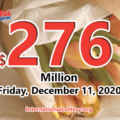 2020/12/08: North Carolina and Ohio players won the second prizes with Mega Millions