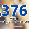 2020/12/25: Three players won the second prizes with Mega Millions