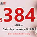 Powerball results for 2020/12/30; Jackpot swells to $384 million