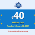 Three players won the second prizes of Euro Millions Lottery; Jackpot is €40 million Euro