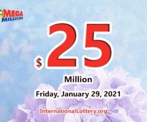 Mega Millions results for 2021/01/26; Jackpot stands at $25 million