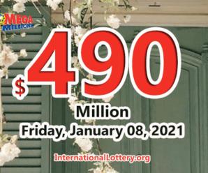 4 players won million dollar prizes; Mega Millions jackpot hits $490 million