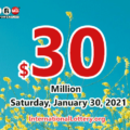 Powerball results for 2021/01/27: Jackpot is $30 million