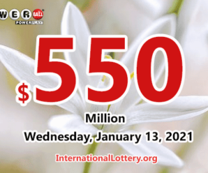 Powerball jackpot now is $550 million: Two new winners of $1 million