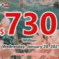 2021/01/16: 14 lucky players won million dollar prizes; Powerball jackpot is $730 million