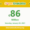 Results of SuperEnalotto lottery on December 31, 2020; Jackpot raises to 86 million Euro