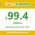 Results of SuperEnalotto lottery on January 28, 2021; Jackpot raises to 99.4 million Euro