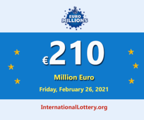 Now, €210 million of Euro Millions Lottery is the biggest jackpot in the world with Euro