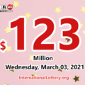 Powerball jackpot climbs to $123 million for March 03, 2021