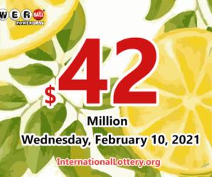 A North Carolina player won $1 million, Powerball jackpot is $42 million now