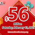 Result of Powerball on February 10, 2021: A player won $2 million