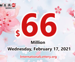 Powerball results for 2021/02/13 – Jackpot is up to $66 million