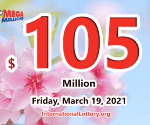 Mega Millions results for 2021/03/16: Jackpot stands at $105 million