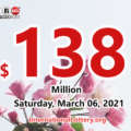 Powerball results of March 03, 2021; Jackpot raises to $138 million
