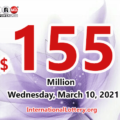 Powerball results of March 06, 2021; Jackpot raises to $155 million