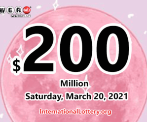Who will win the next $200 million Powerball jackpot on March 20, 2021?