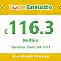 Now, SuperEnalotto Jackpot conquers 116.3 million Euro
