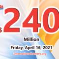 Mega Millions rewared 1 millions prize; Jackpot raises to $240 million