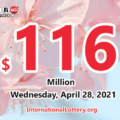 Powerball results for 2021/04/24: Jackpot stands at $116 million