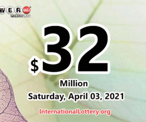 The result of Powerball of America on March 31, 2021; Jackpot is $32 million