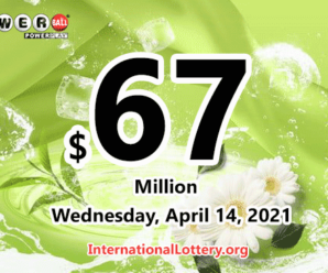 Powerball results of April 10, 2021; Jackpot is $67 million